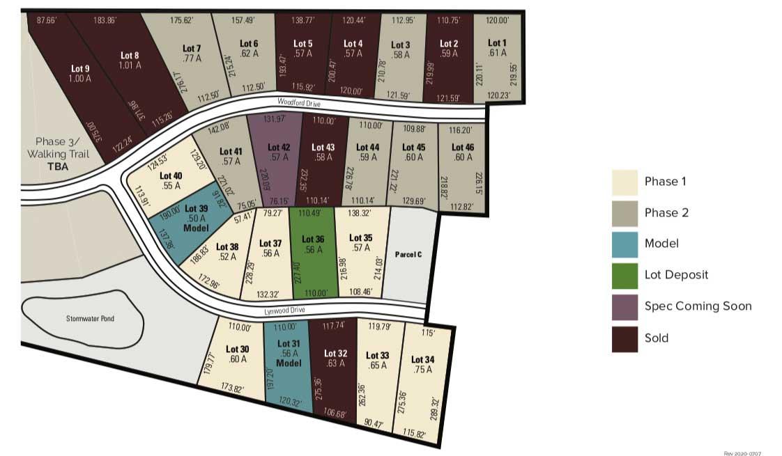Woodland Trace Mars PA Plot Plan